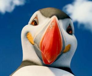 Puzle O poderoso Sven, um papagaio-do-mar que pode voar