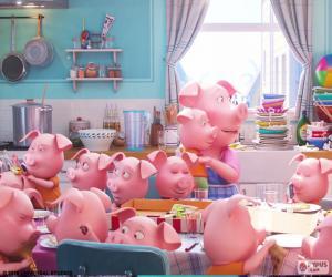 Puzle O porco Rosita