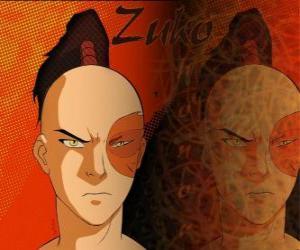 Puzle O príncipe Zuko é exilado da Nação do Fogo e quer capturar o Avatar Aang para restaurar sua honra