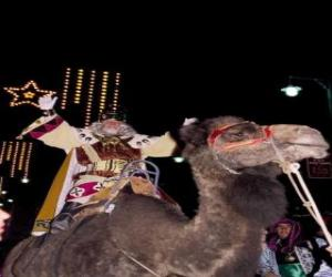 Puzle O Rei Melchior montando seu camelo