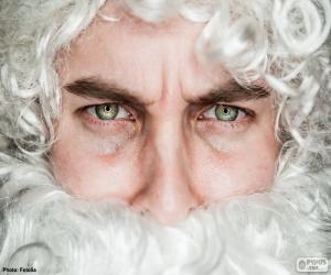 Puzle O rosto do Papai Noel