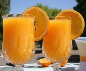 Puzle O suco de laranja