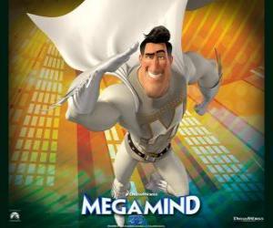 Puzle O super-herói Metro Man é o rival do supervilão Megamind ou Megamente