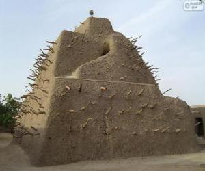 Puzle O Túmulo de Askia em Gao, Mali