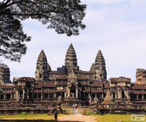 Puzle O templo de Angkor Wat, Camboja