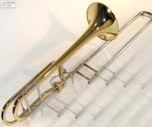 Puzle O trombone é um aerofone da família dos metais