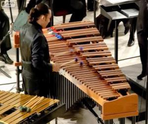 Puzle O vibrafone é um instrumento musical