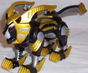 Puzle O Zord Leão, Power Ranger Amarelo. Ninja Power Rangers