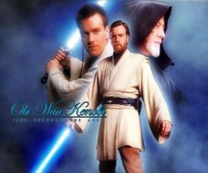 Puzle Obi-Wan Kenobi, um mestres Jedi