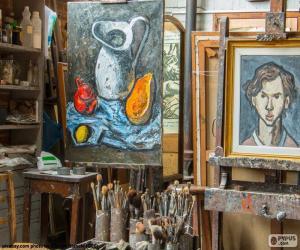 Puzle Oficina do artista pintor