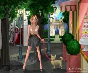 Puzle Oh My Dollz, passear o cão