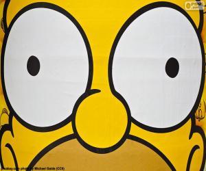 Puzle Olhos de Homer Simpson