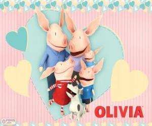 Puzle Olivia o leitãozinho com a família