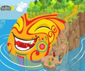 Puzle Oloko. Crie seu mundo com o jogo de estratégia online para crianças inteligentes