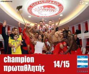 Puzle Olympiacos FC campeão 2014-2015