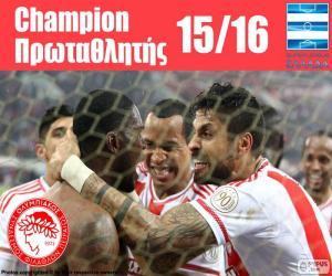 Puzle Olympiacos FC campeão 2015-2016