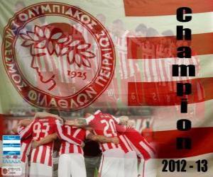 Puzle Olympiacos Piraeus, campeão Super Liga 2012-2013