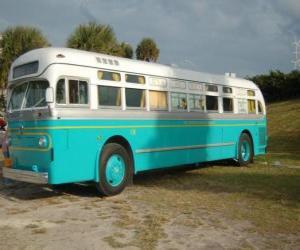 Puzle Ônibus antigo