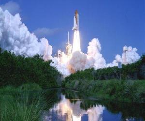 Puzle Ônibus espacial no lançamento