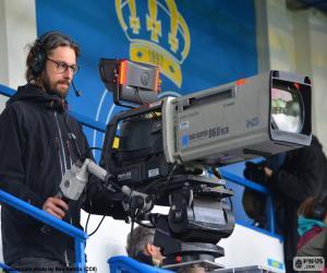 Puzle Operador de câmera de televisão