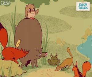 Puzle Os animais da floresta decidir o caminho de carreira