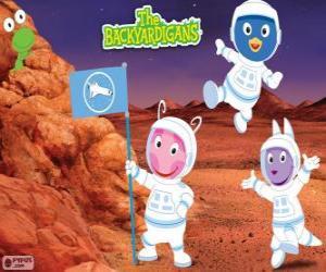Puzle Os astronautas Backyardigans chegaram a Marte