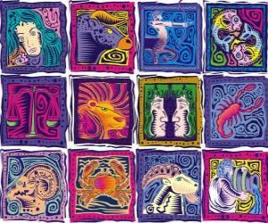 Puzle Os doze signos do zodíaco