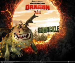 Puzle Os dragões Gronkel são preguiçosos e passam a maior parte do seu tempo dormindo