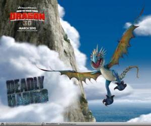 Puzle Os dragões Nadder Mortal ou Nadder Mortífero são rápidos e ágeis no ar e pode voar por longas distâncias