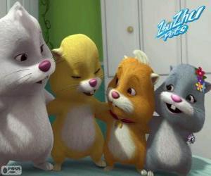 Puzle Os hamsters Zhu Zhu Pets