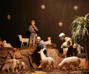 Puzle Os pastores das personagens da natividade