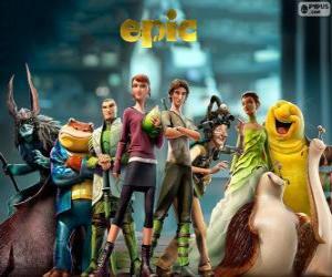 Puzle Os personagens principais do filme Reino Escondido. Epic