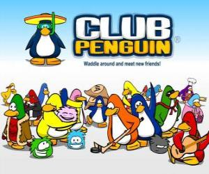 Puzle Os pinguins engraçados do Club Penguin