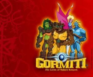 Puzle Os poderosos Senhores da Natureza, os elegidos por salvar a ilha de Gorm