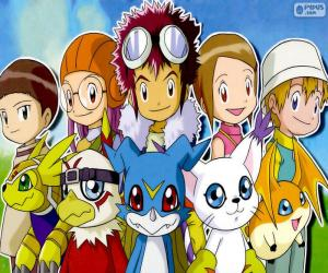 Puzle Os protagonistas de Digimon