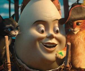 Puzle Os protagonistas, Gato de Botas, Humpty e Kitty
