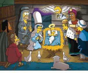 Puzle Os Simpsons na manjedoura