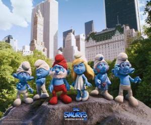 Puzle Os Smurfs no Parque Central de Nova Lorque - Os Smurfs, filme -