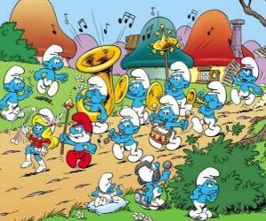 Puzle Os Smurfs são uma banda