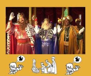 Puzle Os Três Reis Magos, Melquior, Baltasar e Gaspar