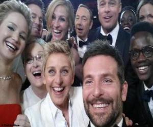 Puzle Oscar 2014, selfie