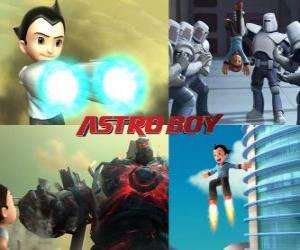 Puzle Ou Astro Boy Astroboy, lutando contra seus inimigos