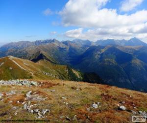 Puzle Outono na alta montanha