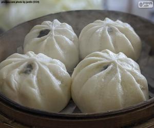 Puzle Pães chineses cozidos no vapor
