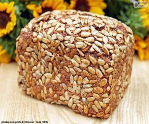 Puzle Pão de sementes de girassol