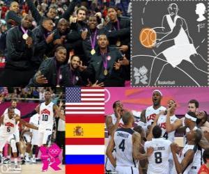 Puzle Pódio basquete masculino LDN 2012