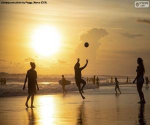 Puzle Pôr do sol na praia