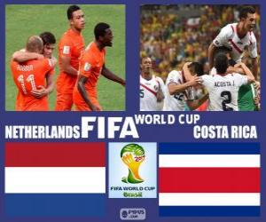 Puzle Países Baixos - Costa Rica, quartas de final, Brasil 2014