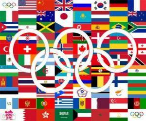 Puzle Países os medalhistas Londres 2012