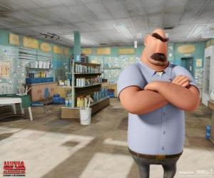 Puzle Pai de Flint, Tim em sua loja de pesca